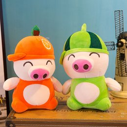 Farm homes online shopping - Soft Stuffed Plush Toy Multi Colors Fruit Pig Shaped Dolls Kawaii Comfortable Animal Pendant For Home Decoration mr BB
