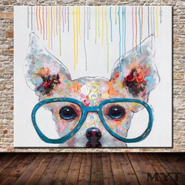 Canvas Prints Art Sale Australia - Hot sale cheap wall pictures HD printed animal dog with glasses Wall art Picture Home Decor for Living Room on Canvas Printing no framed