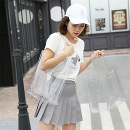 $enCountryForm.capitalKeyWord NZ - 2019 Hot Sale Hologram Transparent Plastic Handbag Beach Shoulder Bag Women Trend Tote Jelly Fashion Pvc Clear Bag Funny