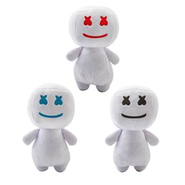 Chinese  25CM DJ Marshmello Plush Doll toys electronic syllable cotton candy DJ headset marshmello plush toy doll Halloween gift 3 colors kids toys manufacturers
