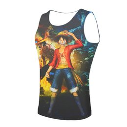 one piece spandex clothes UK - One Piece Cute Tank Top Men 3D harajuku style FItness Clothing Punk Tank tops Sleeveless Shirt 2019 anime Funny Printed vest #779676
