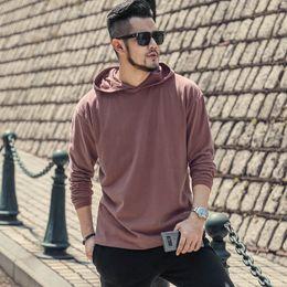 $enCountryForm.capitalKeyWord NZ - Men's Autumn New Dark Red Loose Casual Hoodies Cotton Jacket Men Sweatshirt Brand Design European Style Retro Hoodies