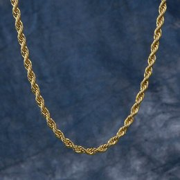 $enCountryForm.capitalKeyWord Australia - Rope Chain Gold Necklace Singaporean Chain Venetian Necklace for Men and Women 3mm Hip Hop Jewelry Culture