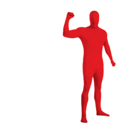 hot tight suit men Australia - Hot Sale Mens Lycra Full Body Zentai Suit Cosplay Stage Wear Custom Second Skin Tight Suits Red Nylon Bodysuit Halloween Costume for Men