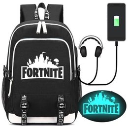 ff2d22839e Fortnite Brand Designer Luminous Backpacks Glow In The Dark Trends Backpack  College Students Sports And Leisure Computer Travel Bag F045