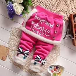 Baby Cotton Winter Tights Pants Canada - good quality new spring autumn baby girls warm leggings baby girls long pants trousers newborn cotton warm winter trousers pants