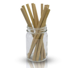 eco straws UK - 100% Natural bamboo straw 23cm reusable drinking straw eco-friendly beverages straws cleaner brush bar drinking tools party supplies SN2520