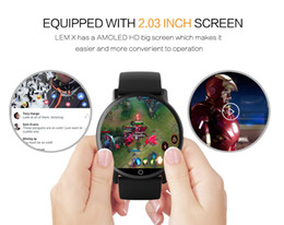 Toptan satış LEM X 4G Akıllı İzle Android 7.1 Destek GPS Sim WIFI 2.03 Inç Ekran 8MP Kamera Kalp Hızı LEMFO LEMX Smartwatch Erkekler Kadınlar için