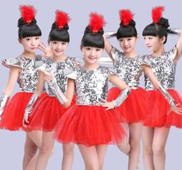 4e62317e738e Children Jazz Dance Costumes Sequins Girls Street Dance Show Clothes Kids  Hip Hop Stage Dancing Suits Jazz dress for girls