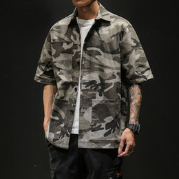 oversized shirts NZ - summer shirt men hawaiian shirt camouflage short sleeve big size 5XL oversized casual tactical beach shirts for men