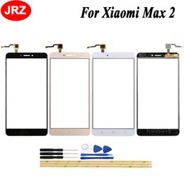$enCountryForm.capitalKeyWord UK - JRZ 6.44 Inch Touch Screen Glass Front Panel For Xiaomi Mi Max 2 Touch Screen Digitizer Panel Glass Free +Tools Adhesive