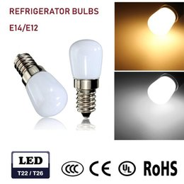 RefRigeRatoR bulbs online shopping - Mini BULB E12 E14 Led Blub SMD V V W Glass Lamp For Refrigerator Fridge Freezer Sewing Machine Home Lighting