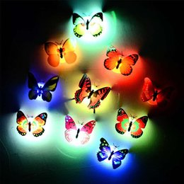 Wholesale Creative colorful butterfly night light can be pasted with LED decorative wall light