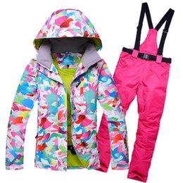 Ski Suits Australia - 2018 RIVIYELE NEW Women Ski Suit Waterproof Ski Jacket Pants Winter Outdoor Skiing Snowboard Suit Set Jacket Pants Snow Clothes