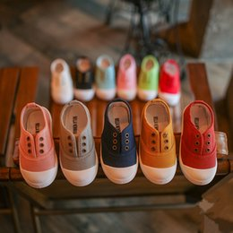Cheap Girls Canvas Shoes NZ - Summer Children Shoes Canvas Sneakers 2018 Spring Kids Fashion Girls Casual Shoes Toddler Boy Canvas Shoes Cheap Kids Trainers