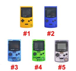 """Hot sale 5 Colors Transparent GB Boy Retro Classic Handheld Game Console Gaming Machine 2.7"""" Backlit Screen DHL free ship on Sale"""