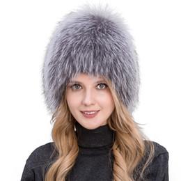$enCountryForm.capitalKeyWord Australia - 2017 Hot Sale 100% Natural Silver Fox Fur Women Winter Hat Knitted Cap Women Hat Fox Fur Bomber Hat Female Ear Warm Winter Must S18120302