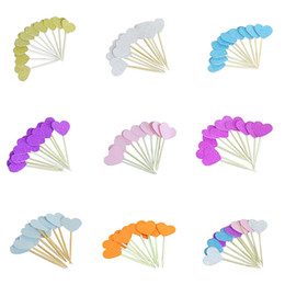 $enCountryForm.capitalKeyWord Australia - 20 Pieces Lot Handmade Lovely Colourful Heart Shape Cupcake Toppers Cake Party Supplies Birthday Wedding Party Decoration 8Z
