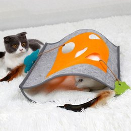 Hidden toy online shopping - Pet Cat Sleeping Tunnel Toy Cat Activity Play Bag Fun Interactive Toys Hiding Sneaking Watching Gift for Lovers