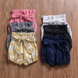 big girls short pants NZ - Kids Clothes INS 2019 Baby Girls Short Pants Big PP Bowknot Bread Lantern Trousers Children Kids Clothing 6 Colors Q75
