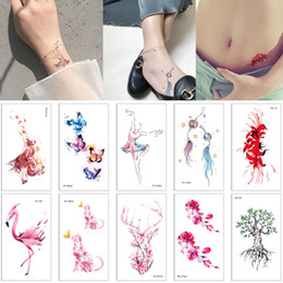6b3f614d9 Small Waterproof Temporary Tattoo Body Art Sticker for Kids Girl Boy Wolf  Cat Flower Dog Fox Tree Decal Tattoo Transfer Paper Birthday Gifts