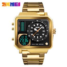 Luxury Sport Casual Watches Australia - Top Luxury Mens Watches SKMEI Brand Sport Digital Quartz Watch Men Stainless Steel Strap Waterproof Fashion Casual Clock Male