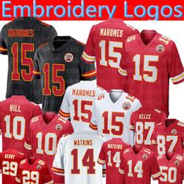 550427e48da Kansas City 15 Patrick Mahomes II Chiefs Jersey 87 Travis Kelce 10 Tyreek  Hill 14 Sammy Watkins 27 Kareem Hunt 11 Smith Football Jerseys