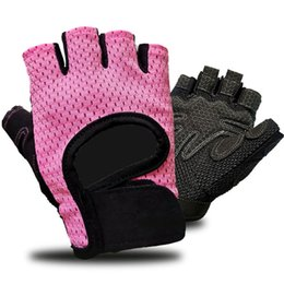 women s half slip NZ - Men women half finger bike riding gloves palm no slip breathable bicycle cycling gloves S M L