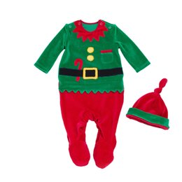 $enCountryForm.capitalKeyWord UK - Christmas Rompers 2018 New Baby Santa Claus Overalls+Hat=2PCS Set 0-24 Months Newborn Girls boys Long Sleeves Clothes