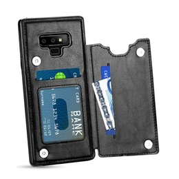 $enCountryForm.capitalKeyWord Australia - S10 Plus Leather Flip Case for Samsung S10 S8 S7 S9 Plus Cases Card Slot Wallet Back Case for iPhone 7 6 6S 8 Plus XS Max XR X