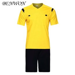 $enCountryForm.capitalKeyWord Canada - Benwon Soccer Referee Jerseys Kit Fair Play Professional Competition Referee Clothing V-neck Football Judge Sets Uniforms Short Sportswear