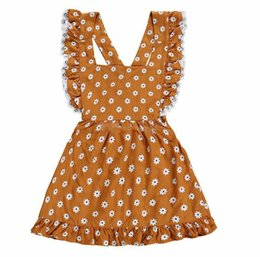 96996e2560e1 New styles children summer YELLOW FLY SLEEVED lace dress FLORAL PRINT  boutique baby girls BACKLESS COTTON party wear dress