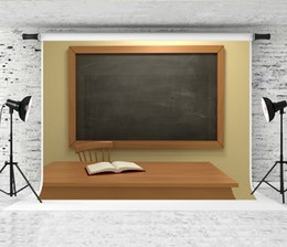 book backdrop NZ - Dream 7x5ft Back to School Chalkboard Photography Backdrop Indoor Book Wood Podium Decor Photo Background for School Party Shoot Studio Prop