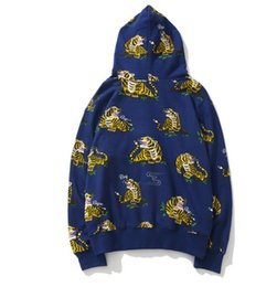 $enCountryForm.capitalKeyWord Australia - 19SS Japanese brand tide brand ABPE new shark camouflage tiger head cooperation zipper hoodie hooded sweater