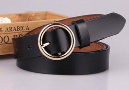 Genuine Leather Waist Strap Belts NZ - Hot Sale Women Fashion Girdle Gold Round Buckle Brand Designer Belts Female Leisure Jeans Belt High Quality Genuine Leather Waist Strap Belt