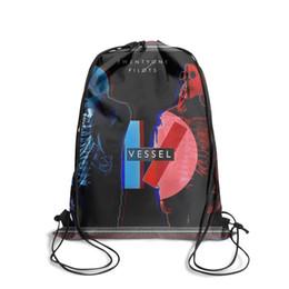 Dye Packs Australia - Drawstring Sports Backpack Fashion Twenty One Pilots Vessel popular durable sports Pull String Backpack