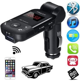$enCountryForm.capitalKeyWord Australia - 12V-24V Auto Stereo Bluetooth Adapter Hands Free Car Kit FM Transmitter Support U Disk TF Card MP3 Music Player