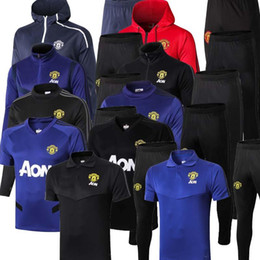 uniform polo Australia - 2019 2020 manchester Soccer training suit men football jerseys sportswear UNITED black foot shirts 2018 2019 2020 Polo shirt kit free shipp