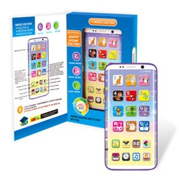 Phone Types Australia - Children's early education puzzle song story toy English single screen intelligent learning charging mobile phone shake function