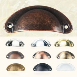 $enCountryForm.capitalKeyWord Australia - Vintage Cabinet Knobs and Handles Cupboard Door Cabinet Drawer Furniture Antique Shell Home Handles Pulls 11 Style XD19917