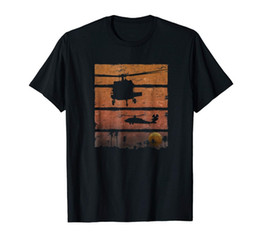 $enCountryForm.capitalKeyWord Canada - Sunset Dustoff Uh-60 Blackhawk Medevac Helicopter T-Shirt Fashion New Summer Classical Solid Color Short Sleeve Loose Skull T