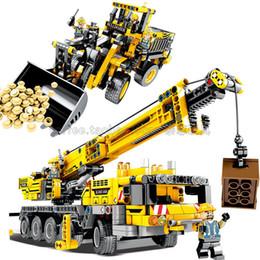 Kids Block Set Australia - Technic Lifting Crane Bulldozer Model Building Blocks Brick legoing Technic Excavator Set City Kids Toys For Children Gift