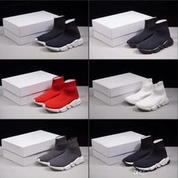 Mens Da Mulher Nova Slip-on Elastic Pano Trainer Velocidade Trainer Ao Ar Livre de Luxo Unissex Sapatos Casuais Moda Plana Meias Botas Sapatos de Homem venda por atacado