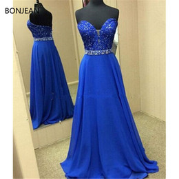 formal gown brush train 2019 - Prom Dresses Cheap dresses Sweetheart Beaded Sweep Brush Train Sequins Long Formal Fancy Evening Dress Gowns 2019 cheap