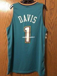 8dbfa611 NCAA Cheap Baron Davis #1 Jersey Mens green Stitched Basketball jerseys