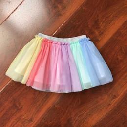 Red White Blue Tutus Australia - Baby Girls Tutu Skirt Fluffy Children Ballet Kids Pettiskirt Baby Girl Skirts Princess Tulle Party Dance Rainbow Skirts for Girl