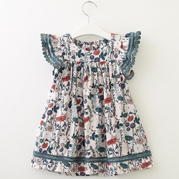 $enCountryForm.capitalKeyWord Australia - irls Summer Dress European And American Style Kids Short-Sleeve Flore Printed Party Dress Children Clothes Dresses