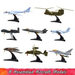 development kits 2019 - 8Pcs Set 4D Aircraft Fighter Model Kits Toys for Children DIY Handmade Assembling Creative Toys for Kids Intellectual De