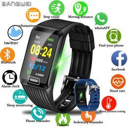 Rectangle Sport Watch For Men Australia - Bangwei 2019 New Smart Watch Men Women Fitness Tracker Heart Rate Blood Pressure Monitor Smartwatch Sport Watch For Ios Android Y19051603