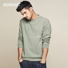 $enCountryForm.capitalKeyWord Australia - KUEGOU 2019 Autumn Cotton Print Letter Green Sweatshirts Men Fashions Japanese Streetwear Hip Hop Male Brand Clothes Tops 0223